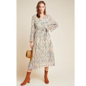 Anthropologie Sharona Shimmer Midi Dress Medium